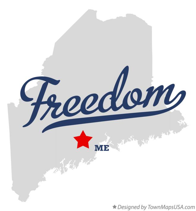 Map of Freedom Maine ME