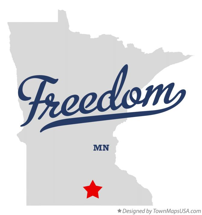 Map of Freedom Minnesota MN
