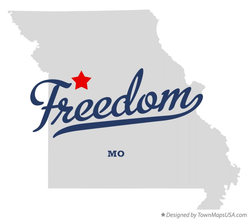 Map of Freedom Missouri MO