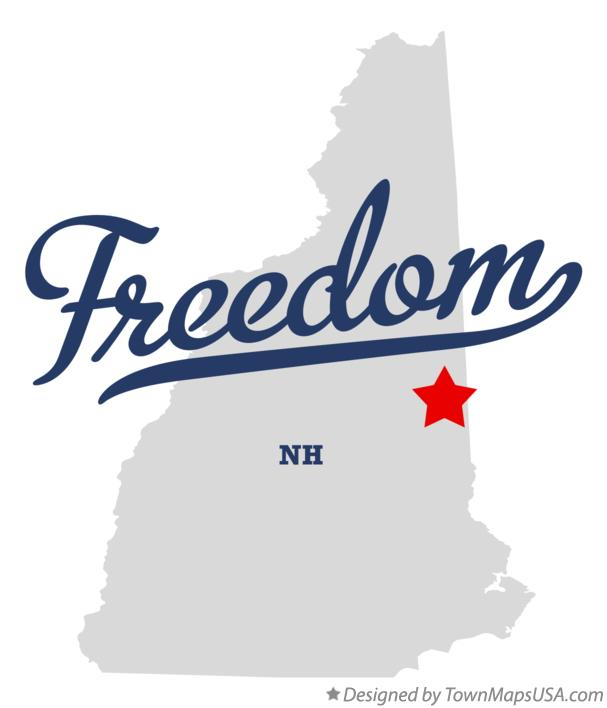 Map of Freedom New Hampshire NH