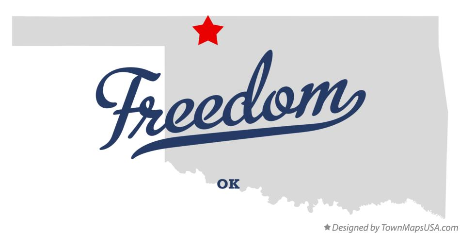 Map of Freedom Oklahoma OK