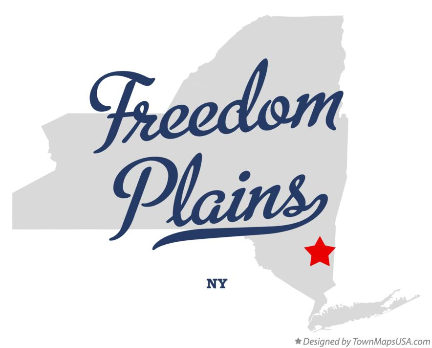 Map of Freedom Plains New York NY