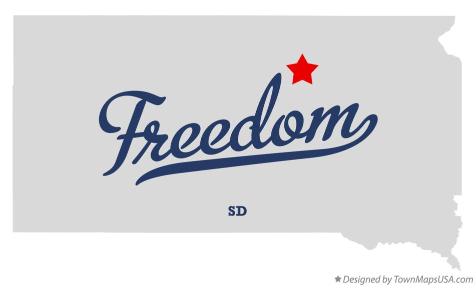 Map of Freedom South Dakota SD
