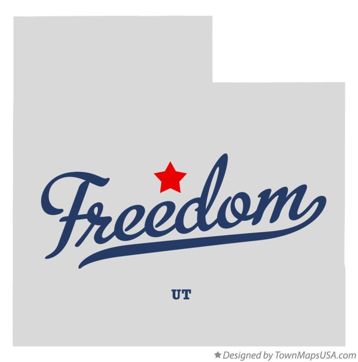 Map of Freedom Utah UT