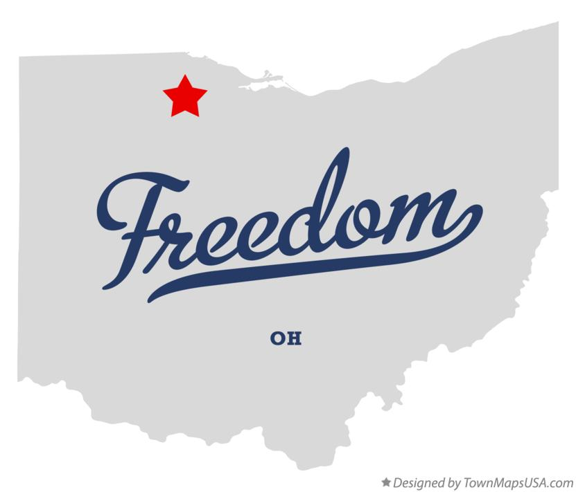 Map of Freedom Ohio OH