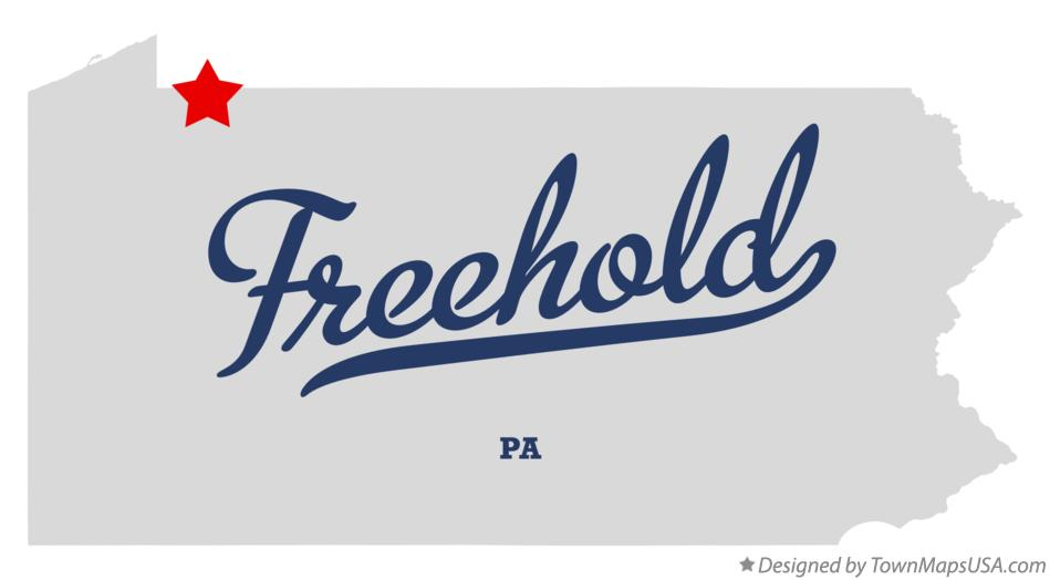 Map of Freehold Pennsylvania PA