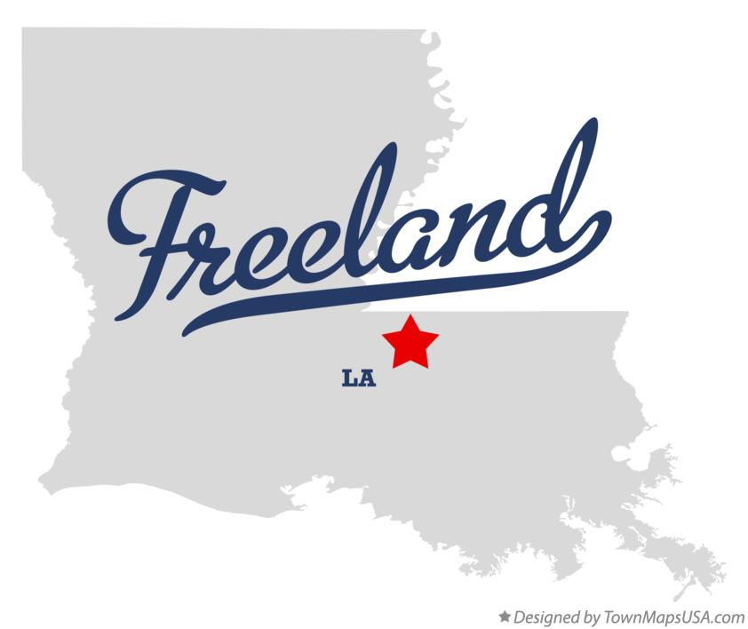 Map of Freeland Louisiana LA