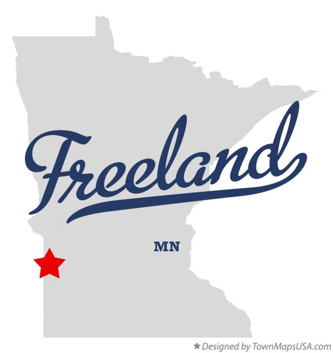 Map of Freeland Minnesota MN