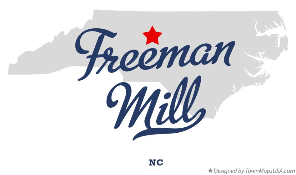 Map of Freeman Mill North Carolina NC