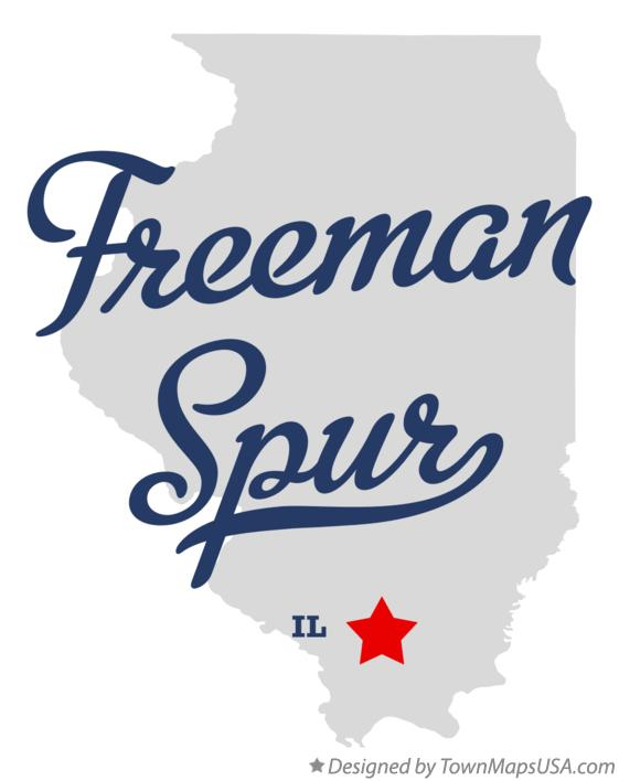 Map of Freeman Spur Illinois IL