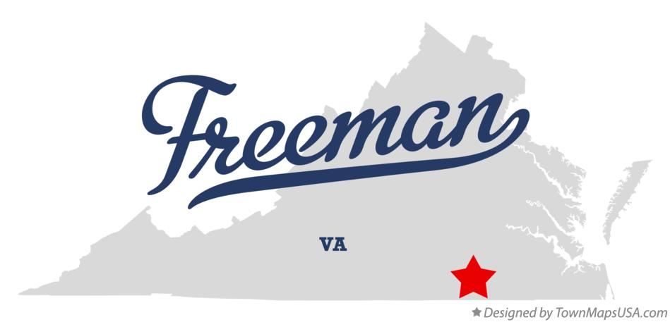 Map of Freeman Virginia VA