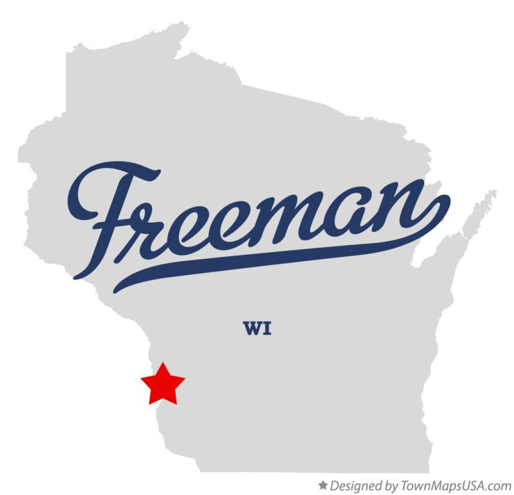 Map of Freeman Wisconsin WI