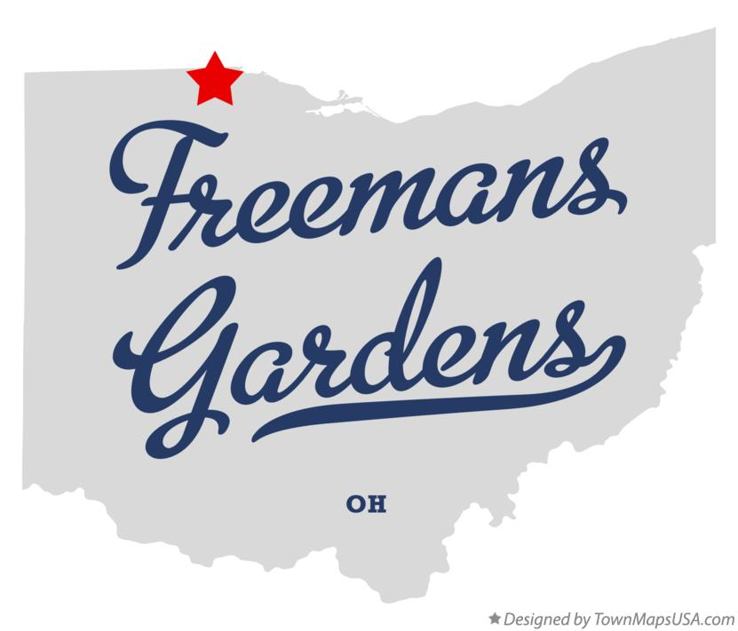Map of Freemans Gardens Ohio OH