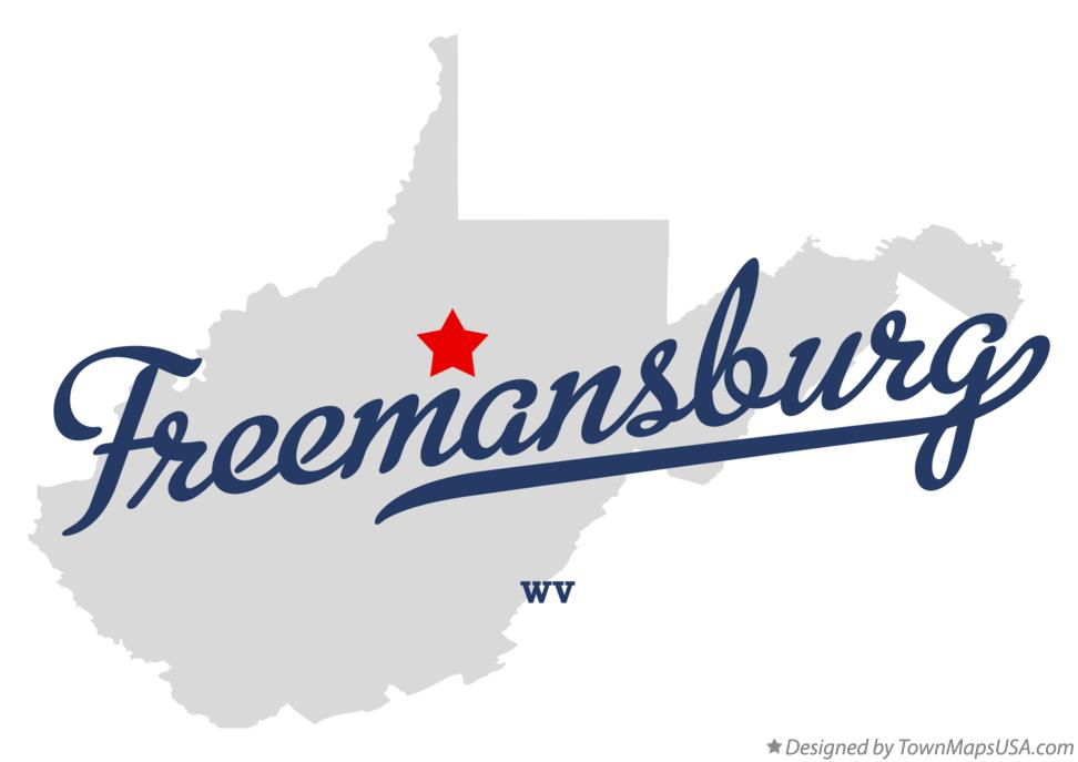 Map of Freemansburg West Virginia WV