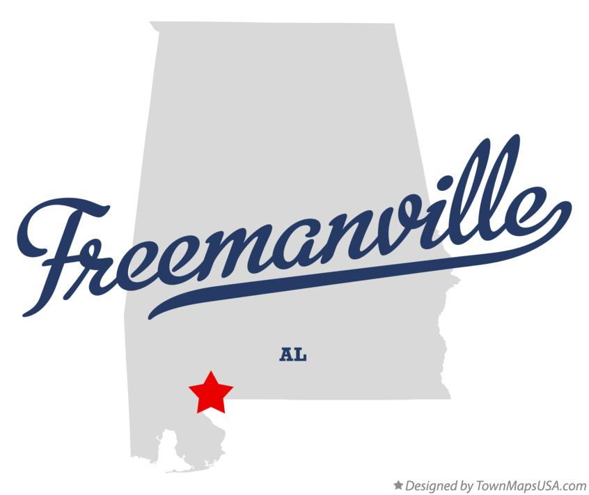 Map of Freemanville Alabama AL