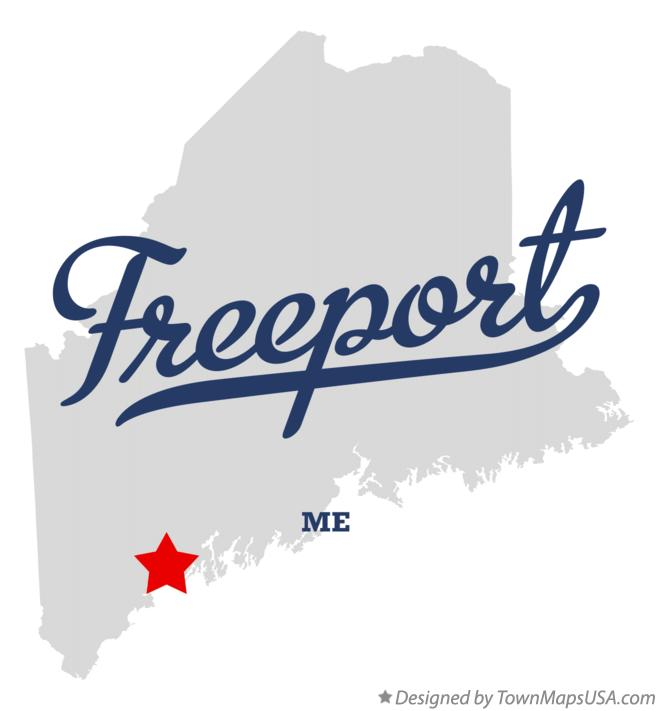 Map of Freeport Maine ME
