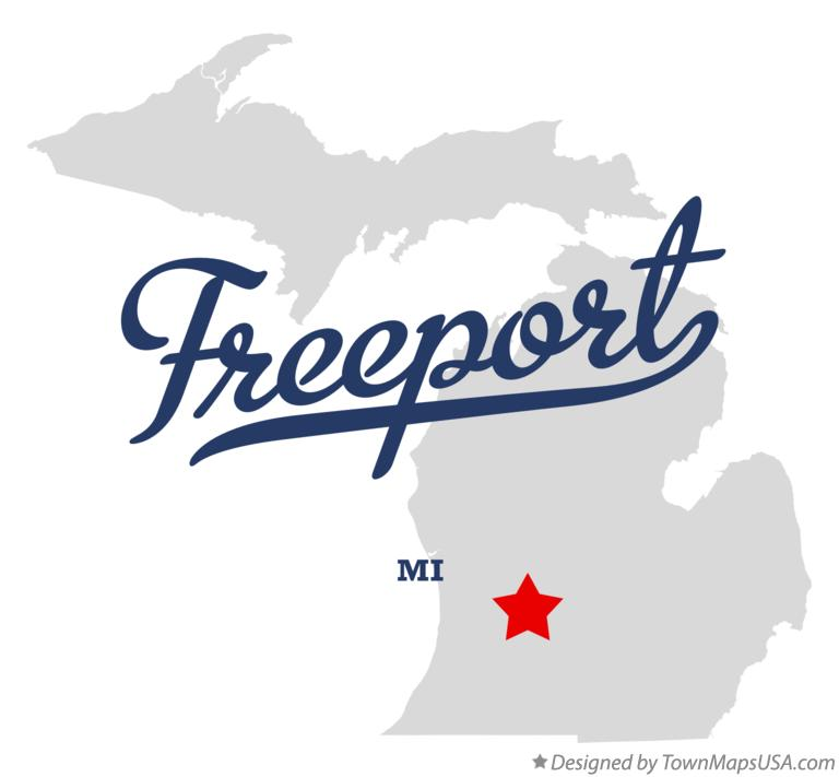 Map of Freeport Michigan MI