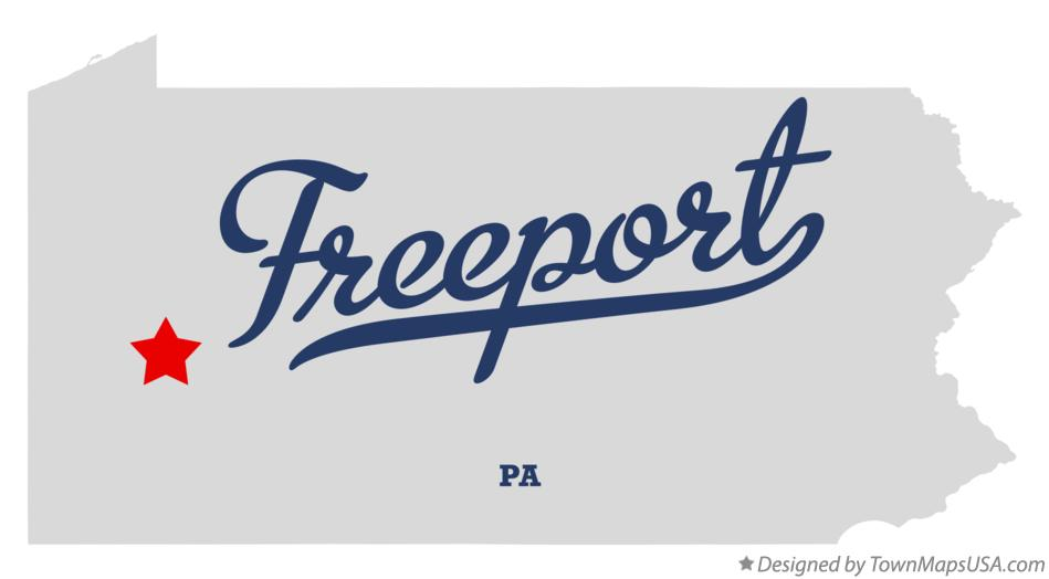 Map of Freeport Pennsylvania PA