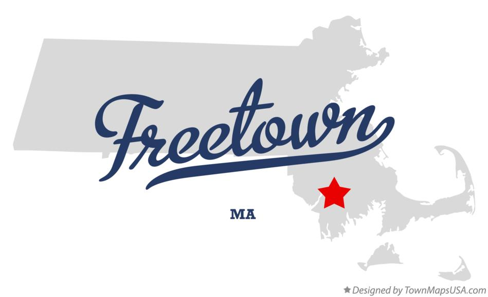 Map of Freetown Massachusetts MA