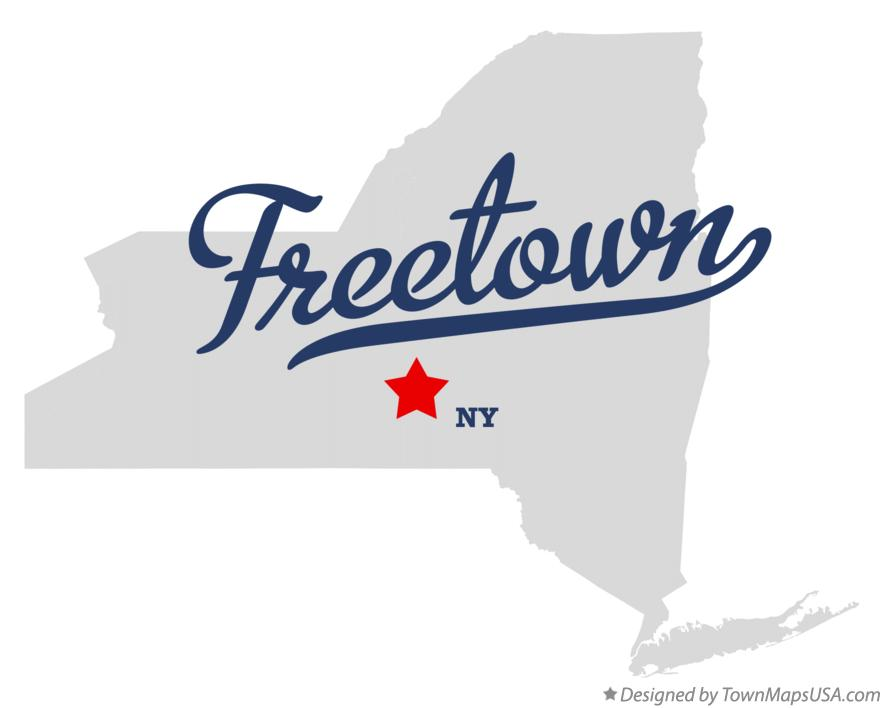 Map of Freetown New York NY