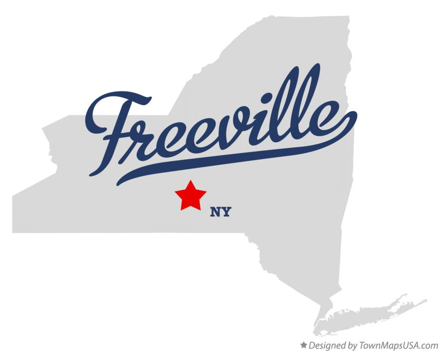Map of Freeville New York NY