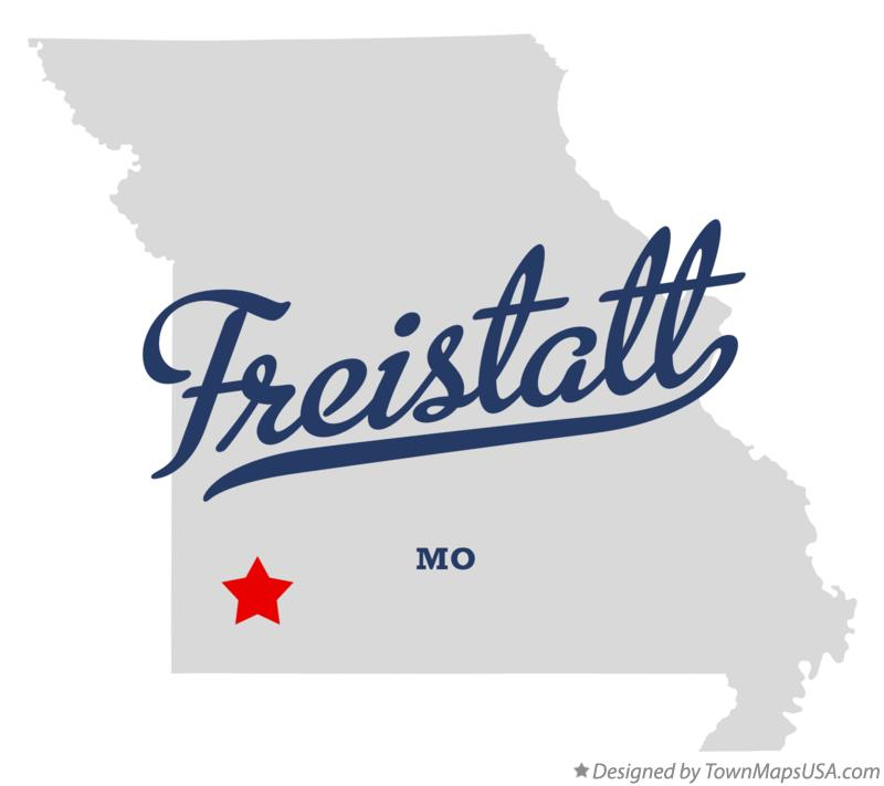 Map of Freistatt Missouri MO