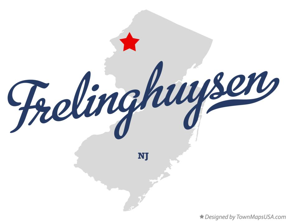 Map of Frelinghuysen New Jersey NJ