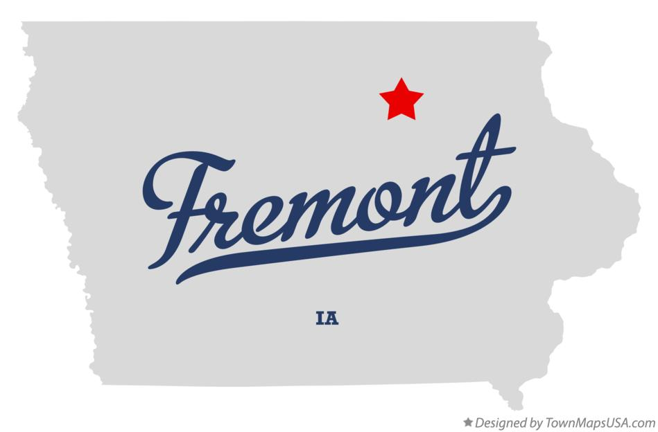 Map of Fremont Iowa IA
