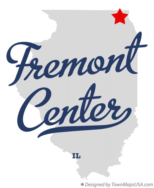 Map of Fremont Center Illinois IL