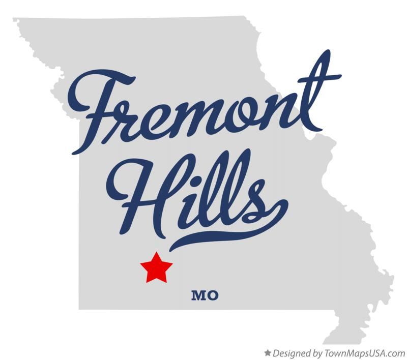 Map of Fremont Hills Missouri MO