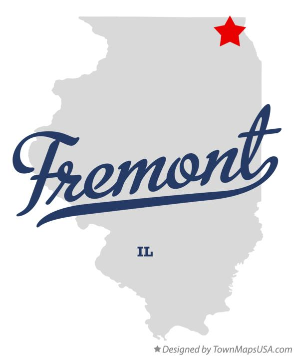 Map of Fremont Illinois IL