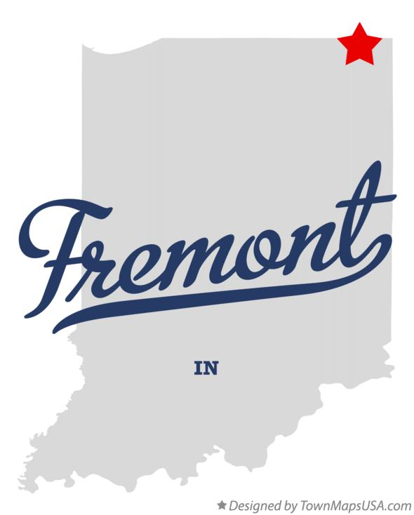 Map of Fremont Indiana IN