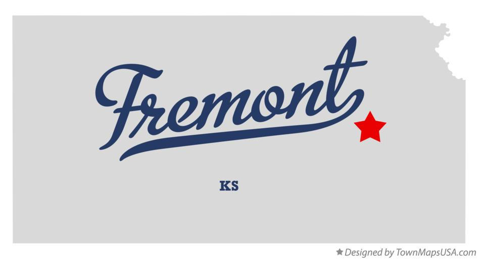 Map of Fremont Kansas KS