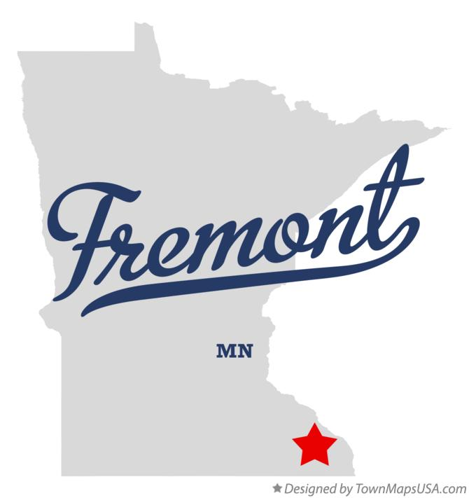 Map of Fremont Minnesota MN