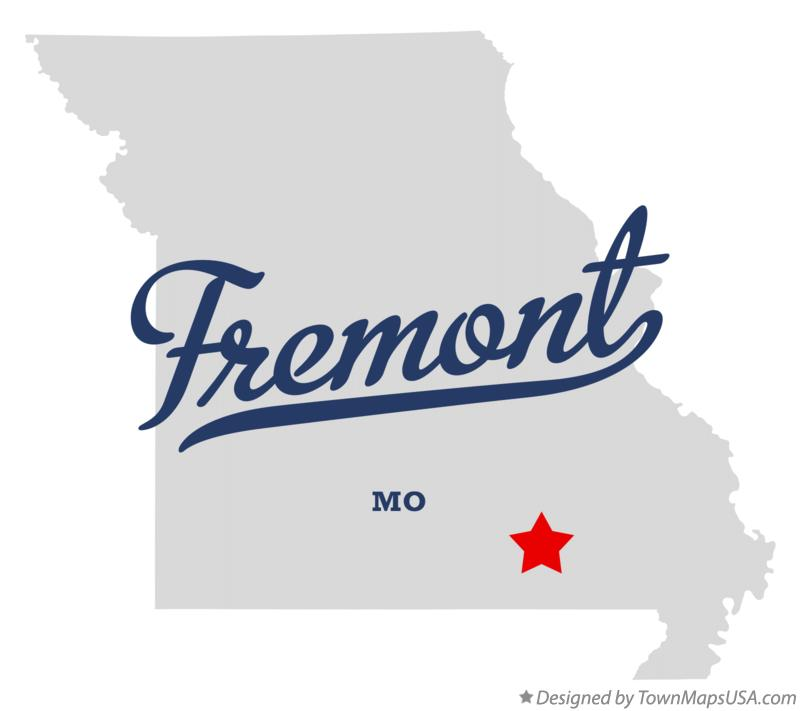 Map of Fremont Missouri MO
