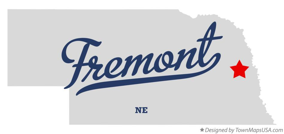 Map Of Fremont Ne Nebraska