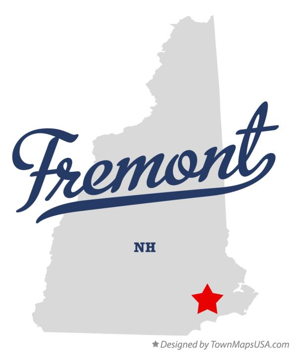 Map of Fremont New Hampshire NH