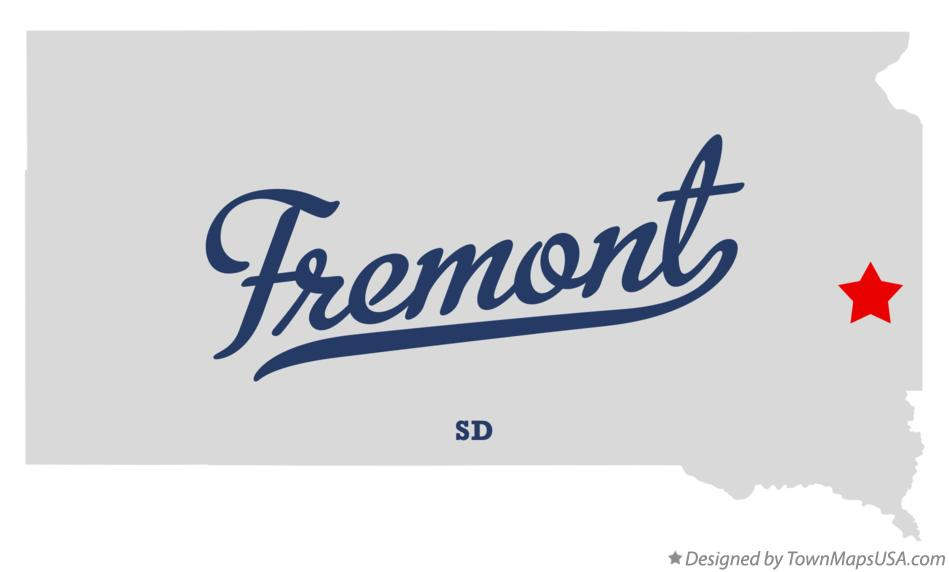 Map of Fremont South Dakota SD