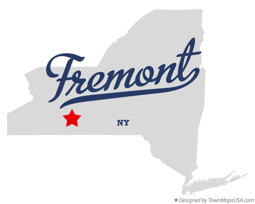 Map of Fremont New York NY