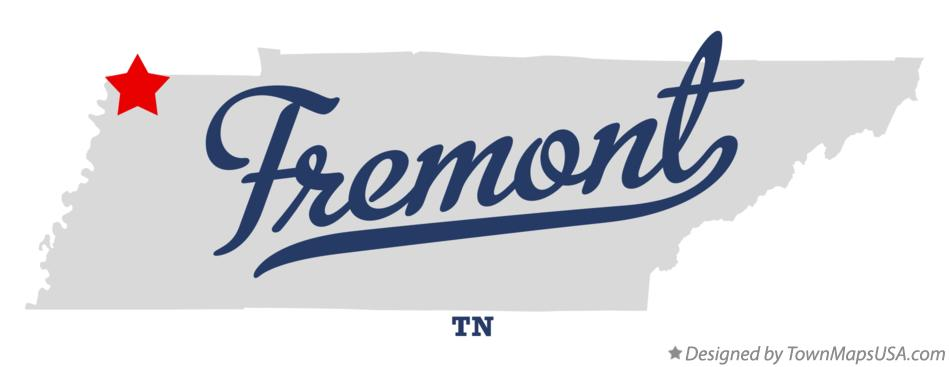 Map of Fremont Tennessee TN