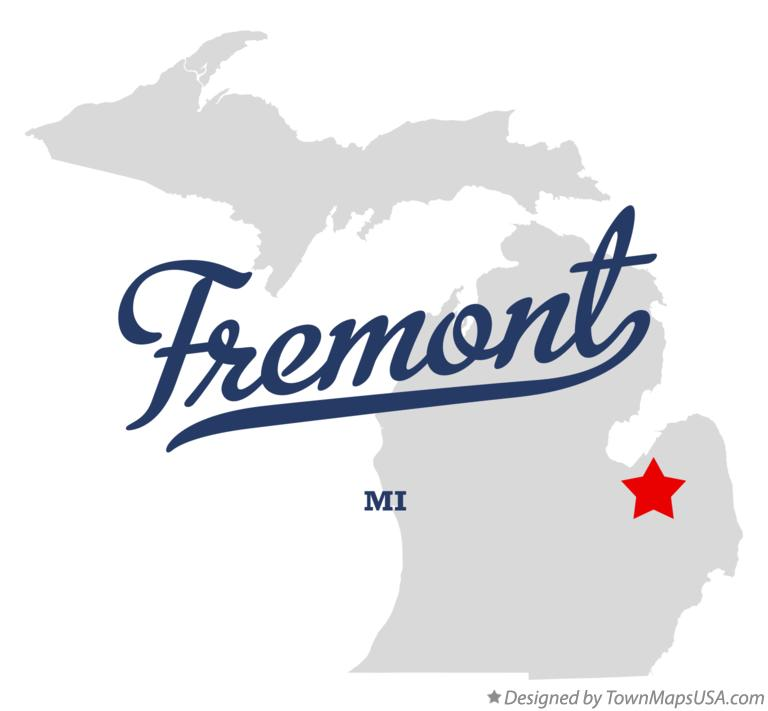 Map of Fremont Michigan MI