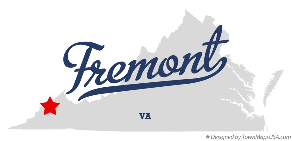 Map of Fremont Virginia VA
