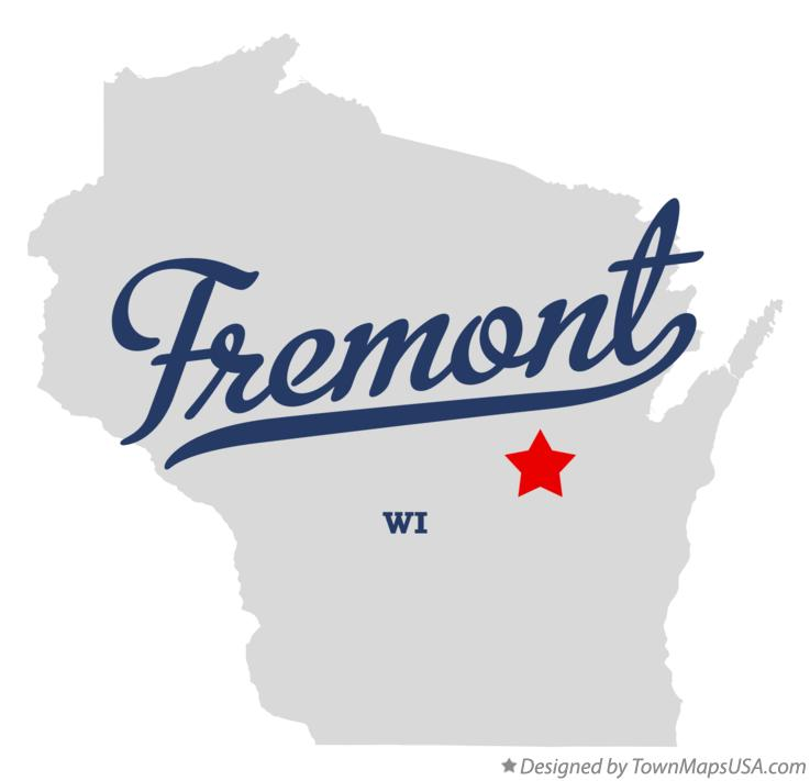 Map of Fremont Wisconsin WI