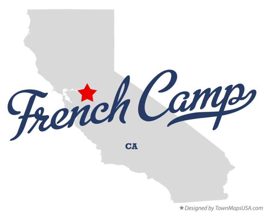 Map of French Camp California CA