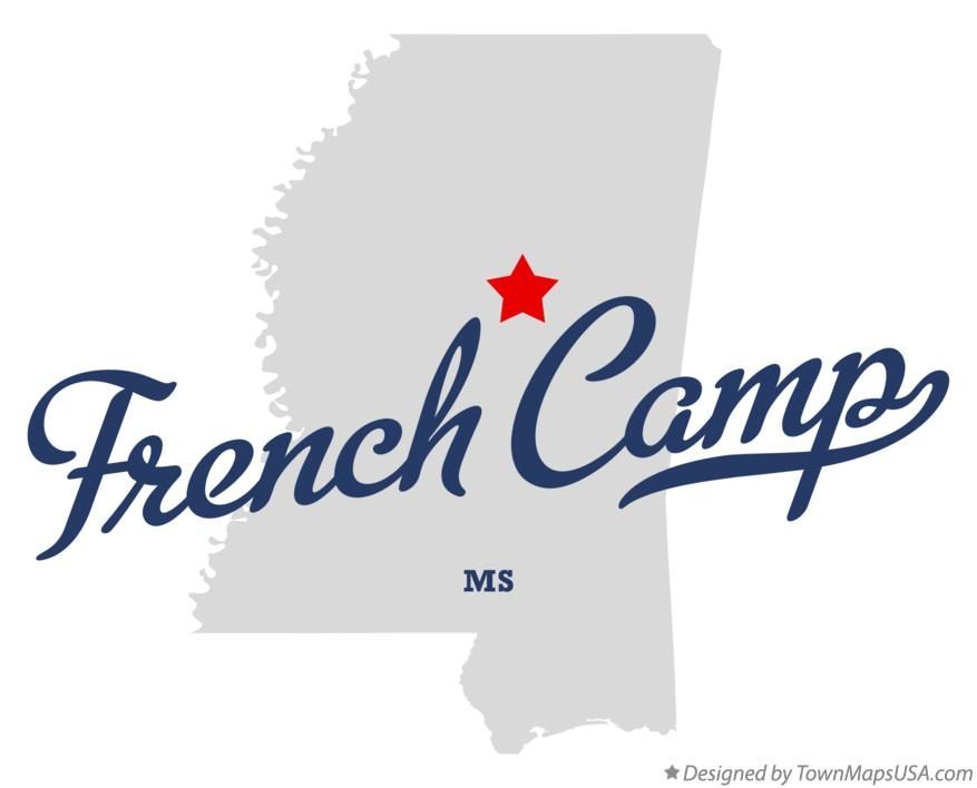 Map of French Camp Mississippi MS