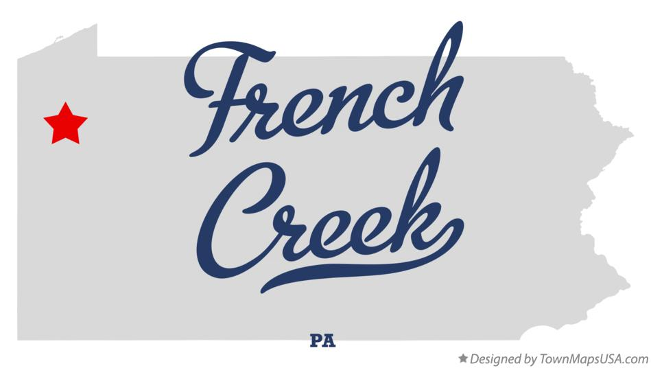Map of French Creek Pennsylvania PA