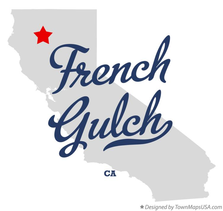 Map of French Gulch California CA