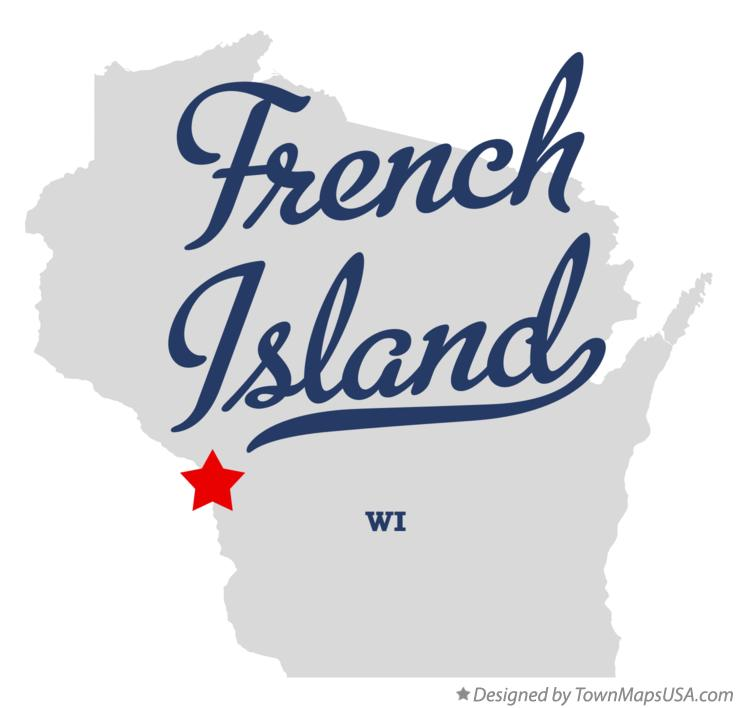 Map of French Island Wisconsin WI