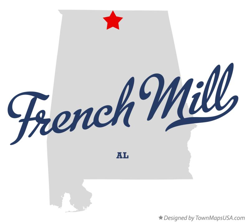 Map of French Mill Alabama AL