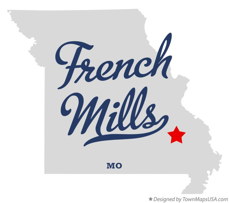 Map of French Mills Missouri MO